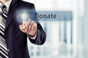 Website donate button